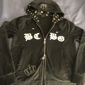 BCBGMaxAzria jeweled zip up hoodie